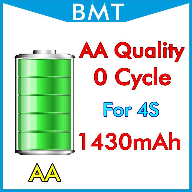 imágenes para BMT 10 unids/lote Calidad AA Batería para iPhone 4S 0 cero BMTI4S0BTAA ciclo 1430 mAh 3.7 V reemplazo de piezas de reparación