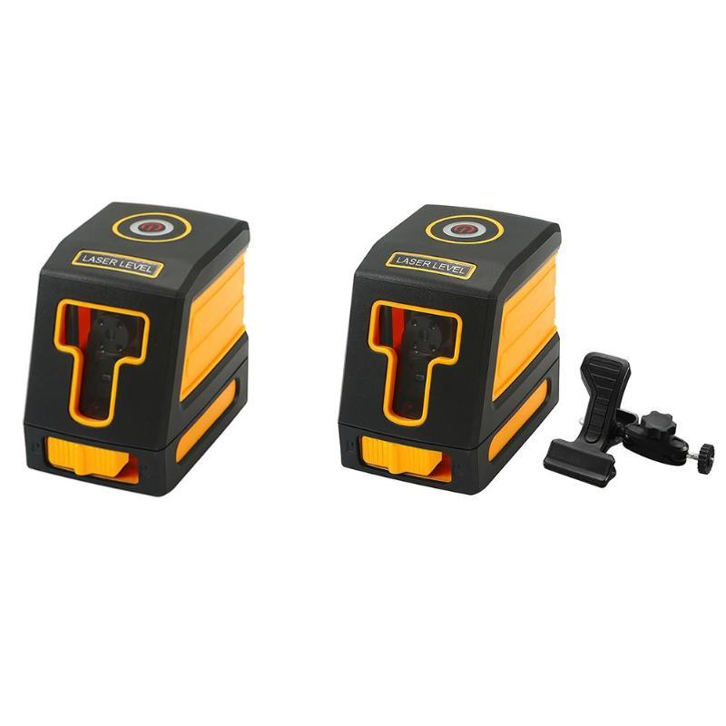 Mini Portable 2 Red/Green Cross Lines IP54 Laser Level Self leveling Horizont Vertical Nivel Lazer Leveling Diagnostic Tool