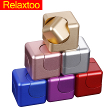 Metal Hand Fidget Spinner Detachable Finger Spinner Cube Gyro Newest Relieve Stress Adult Kid Child Rainbow