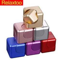 Металлическая рука Непоседа счетчик Съемная палец кубик-спиннер гироскопа новые снять стресс для взрослых Детские Радуга игрушка спинер