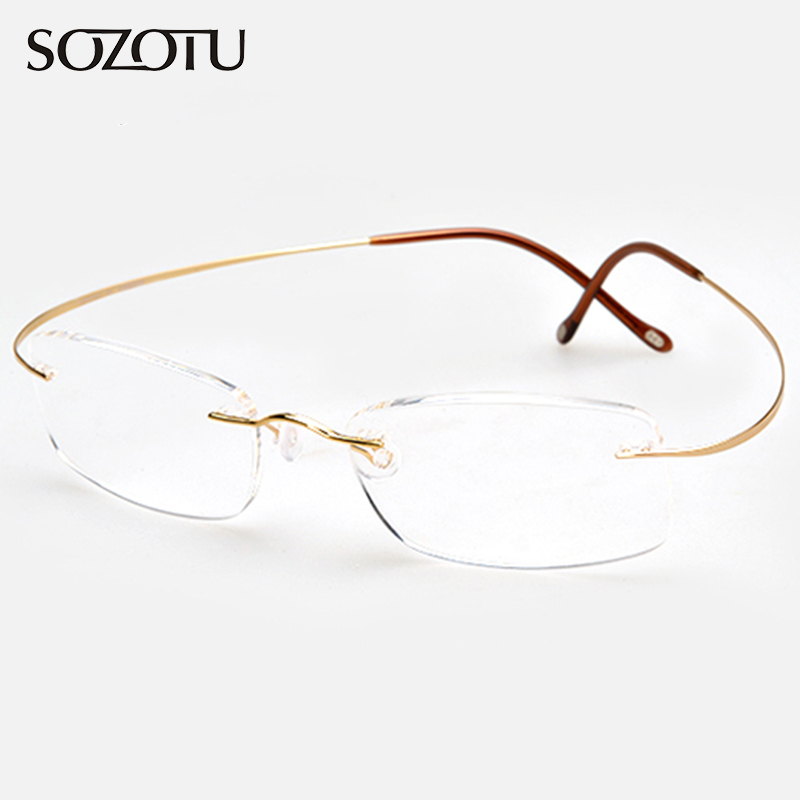 Pure Titanium Frame Magnetic Reading Glasses Men Women Diopter Presbyopic Elderly Eyeglasses +1.0+1.5+2.0+2.5+3.0+3.5+4.0 YQ058