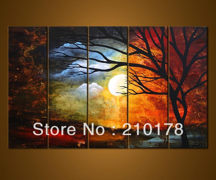 free shipping oil and acrylic paintings on canvas modern best art