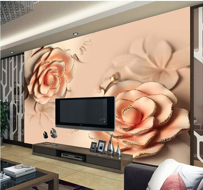 8d Papel mural wallpaper for TV Background 3d photo mural wall paper rose Flower murals 3d wall murals 8d papel mural 3d wall wood panel light 3d damascus wallpaper murals 3d wall paper photo murals for living room tv background
