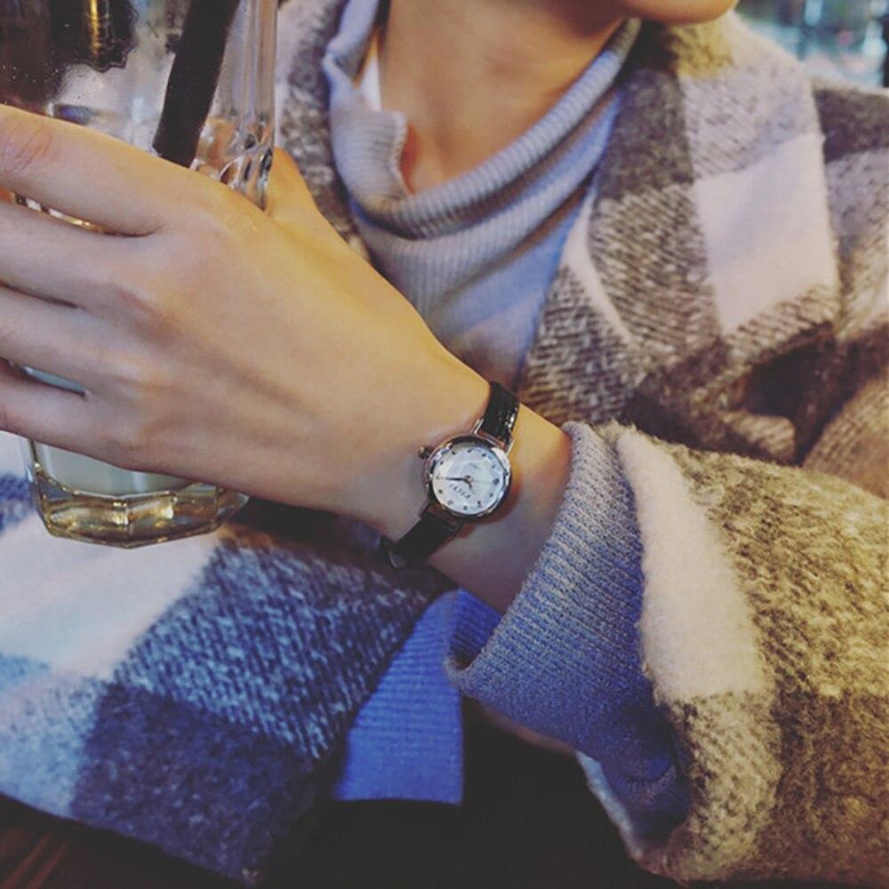 High Quality New Fashion Women Quartz Analog Wrist Small Dial Delicate Watch Luxury Business Watches Dropship 170802 new attractive high quality new arrival women quartz dial clock leather wrist watch round case fashion women s sports watches