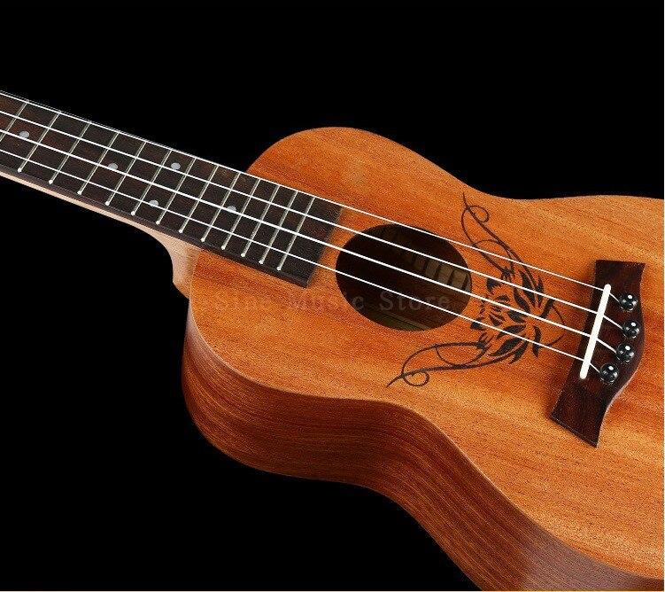 23 inch concert guitar ukulele 4 aquila string hawaiian mini small guitar folk guitar the rose. Black Bedroom Furniture Sets. Home Design Ideas
