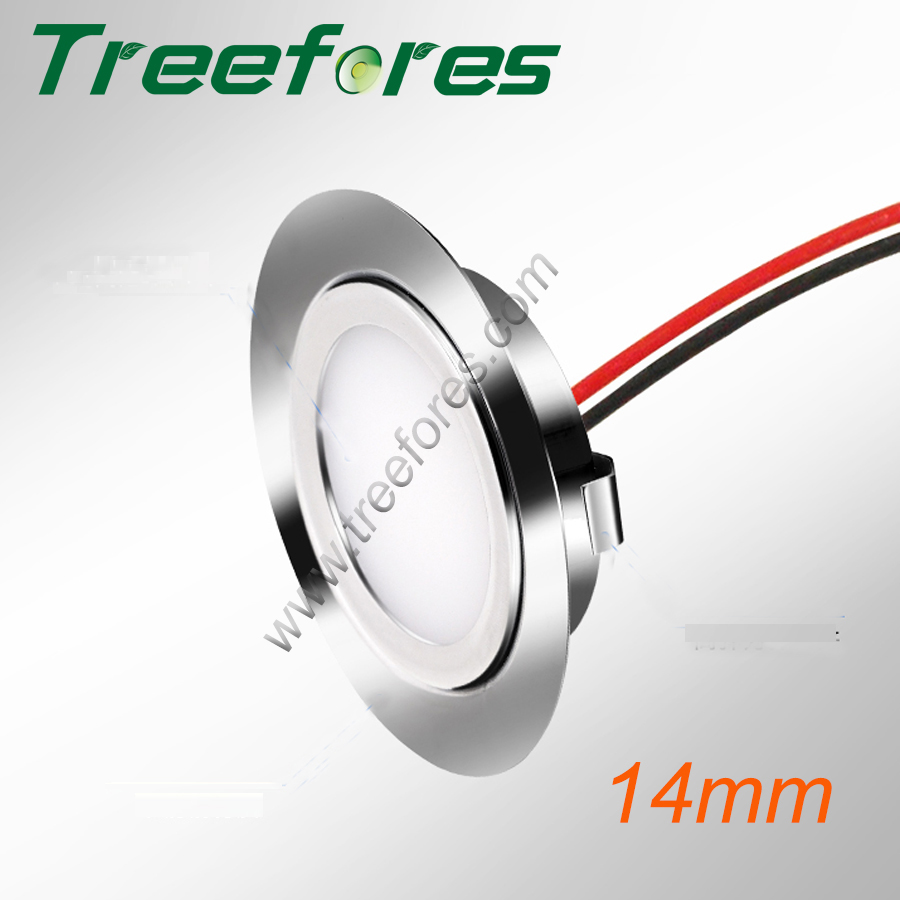 Stainless Steel 3W 12V DC 14mm Mini LED Ceiling Spot Light for Bathroom Kitchen Cabinet Lighting CE RoHS Spotlight Lamp