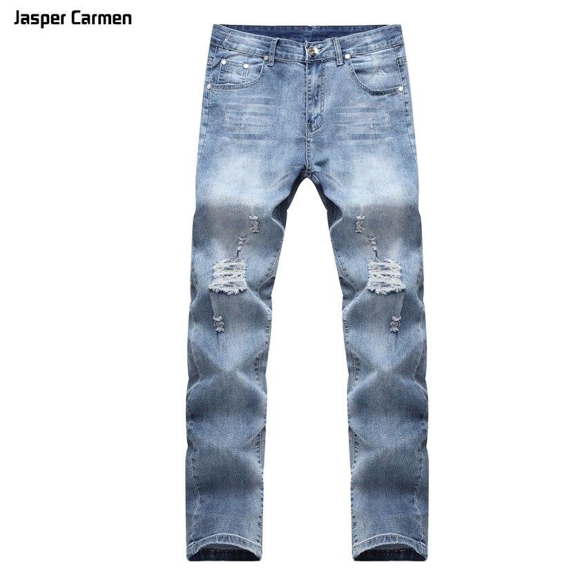 2017 NEW Brand men jeans pants trousers mid-waist straight slim jeans for men Fashion Full Length Solid Skinny Jeans Men 60z new brand 2017 mens skinny jeans mid waist male trousers patchwork cotton men s denim slim pants fashion ripped jeans for men