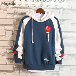 Hoodies Men Hooded Hole Letter Printed Loose Simple All-match Korean Style Harajuku Sweatshirts Mens Trendy Soft Clothing Chic 2