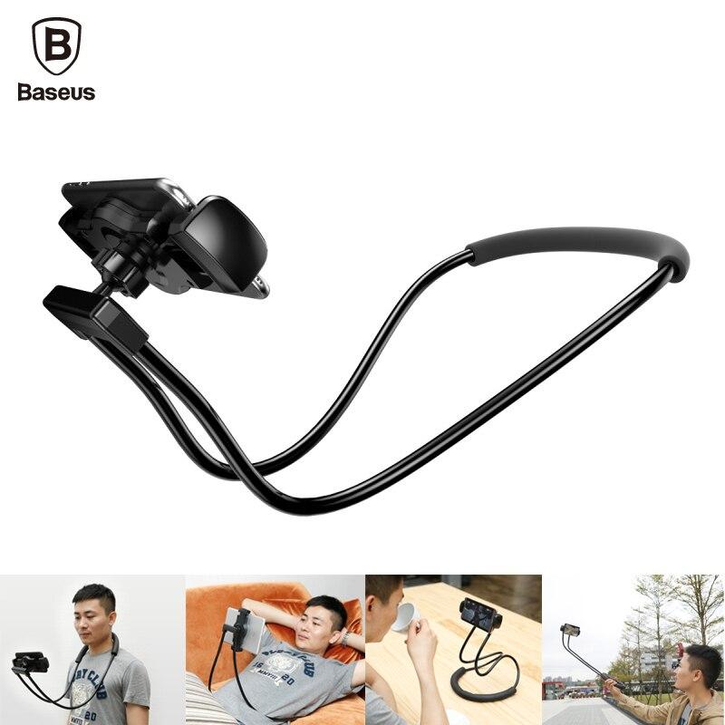 imágenes para De Baseus Flexible Collar Largo Brazo Soporte Perezoso Soporte para Teléfono Móvil Soporte Para iPhone iPad Smartphone Tablet Aire 4-10 pulgadas