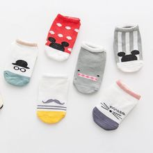 New Arrival Newborn Socks Cartoon 100% Cotton Baby No-slip Infant