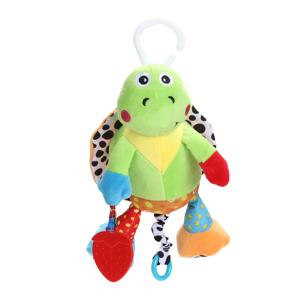 Baby Soft Tortoise Plush Toy Teether Stroller Crib Bed Hanging Ring Musical Bell Baby Rattle Educational Doll brinquedos juguete ...
