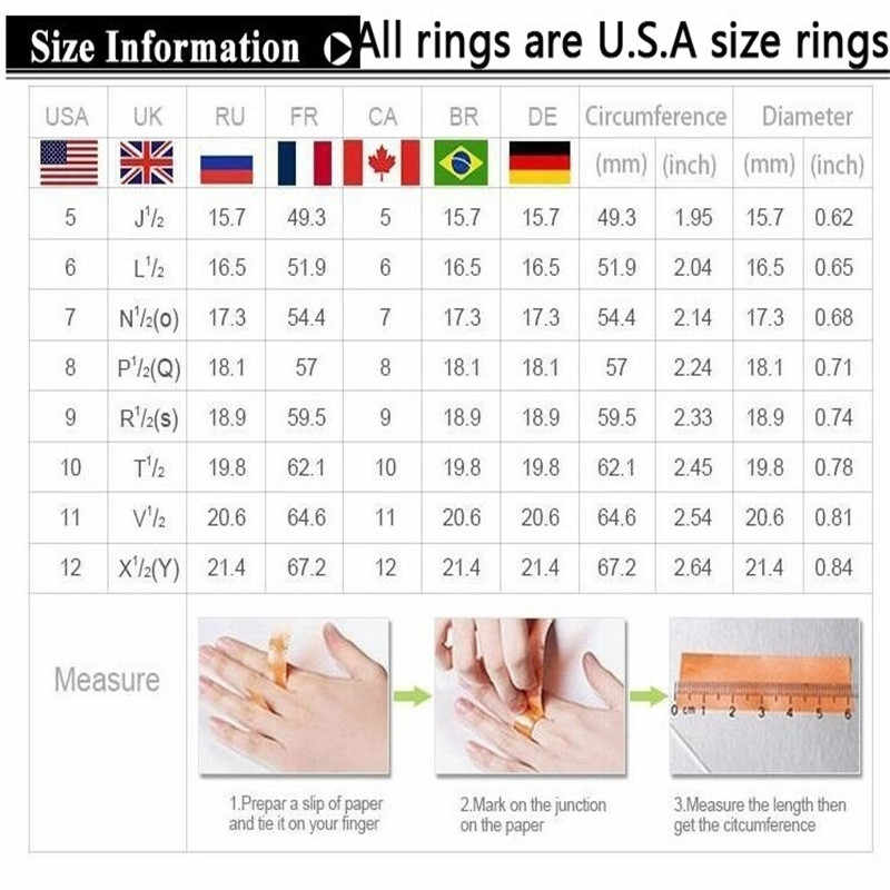 Tisonliz Silver Rings White Bling Crystal Wedding Rings For Women Cute Zircon Engagement Rings Charms Anel Jewelry Dropshipping