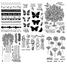 ZhuoAng Trees and Flowers Series Transparent Clear Stamps For DIY Scrapbooking Album Card Making Decoration