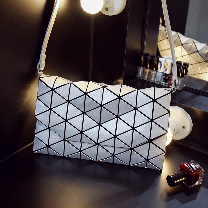 Japanese bao Women Pearl Bag Lattice Geometry Flip-shell Quilted Mini Shoulder Bag Tote Bags cube Folding holographic Handbags паяльник bao workers in taiwan pd 372 25mm