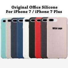 Оригинальный 1:1 копию officeal силиконовый чехол для iPhone 7 Высокое качество телефон роскошный чехол для iPhone 7 Plus 7 Plus с логотипом