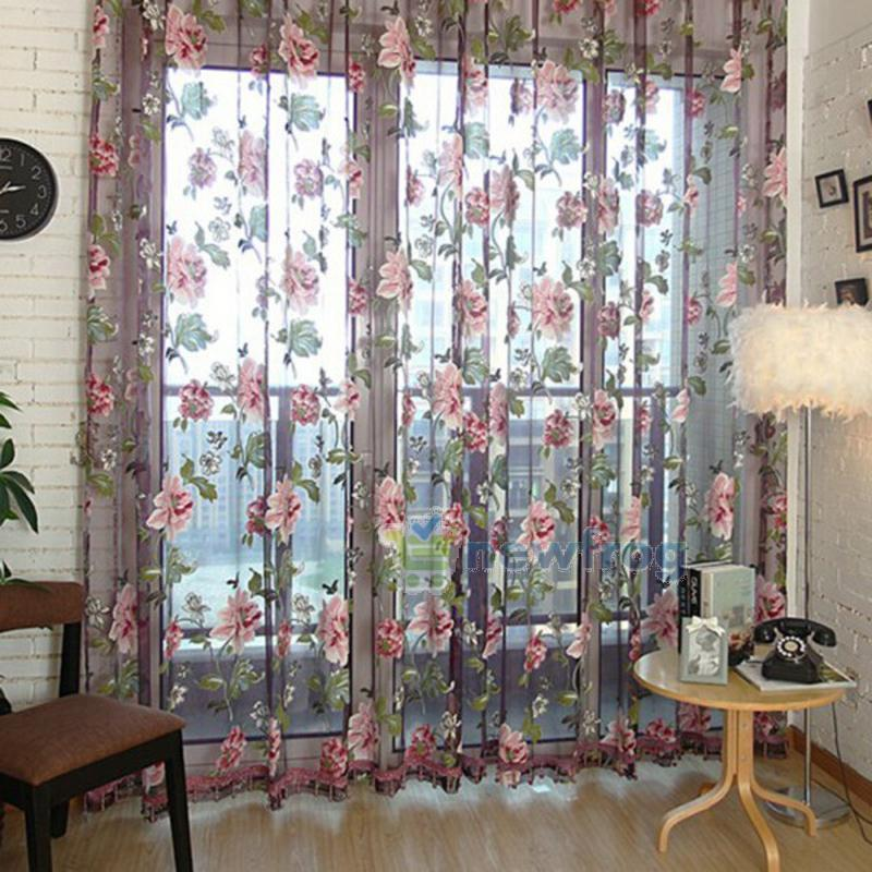 Flower Embroidered Chinese Luxury 3D Window Curtains Fabric Tulle Sheer Curtains For Bedroom Living Room Kitchen Home Textile