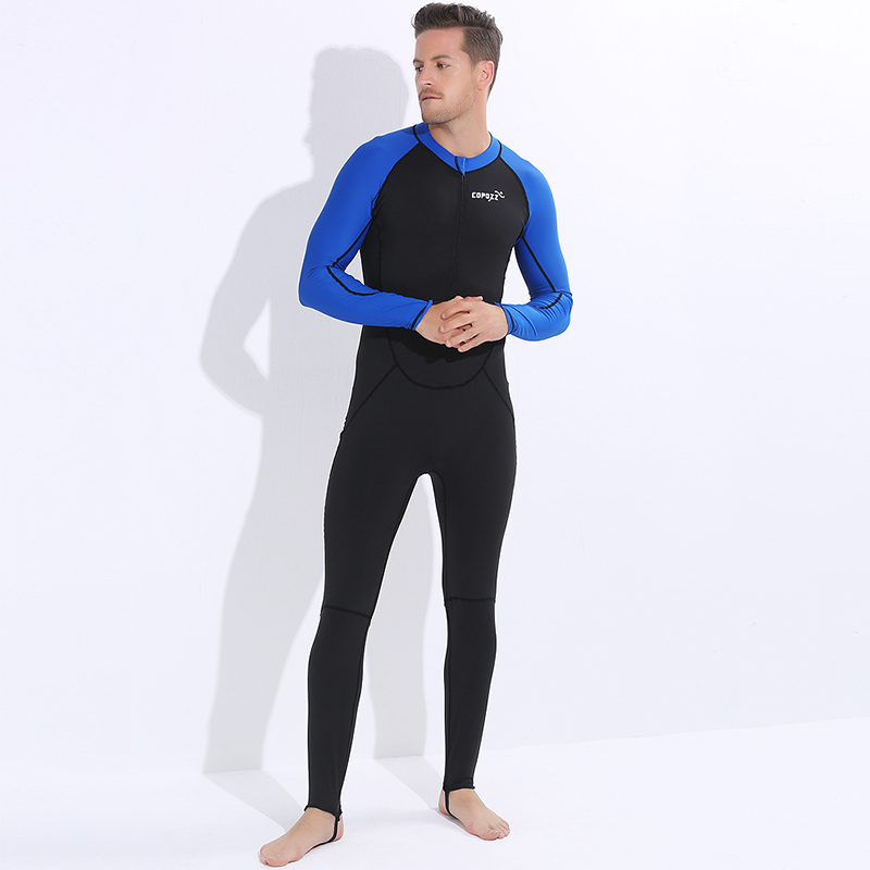 COPOZZ 2MM Long Sleeve Lycra Wetsuit Men Warm Winter Swimming Scuba Diving Suit Spearfishing Wet suit for Surfing Snorkeling in Wetsuit from Sports Entertainment