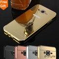 Телефон Случаях Для Samsung Galaxy J2 J5 J7 Премьер Samsung J1 J3 J2 J1 J110 Mini 2016 Case Алюминиевая Рама + Зеркало Акриловые Назад крышка