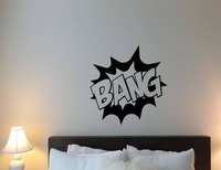 Bang superhero Movie Muurtattoo Citaat Vinyl Muurstickers Voor Kids Nursery Jongens Slaapkamer Art Mural Marvel Comics DIY Poster