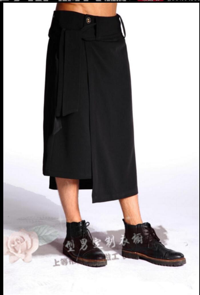 Discothèques Chanteur Noir Casual 44 Deux Nouvelle Lâche Jupe Hommes Jeunes Marée Faux Pantalon Costumes Coiffeur 27 Personnalité RTq6xY