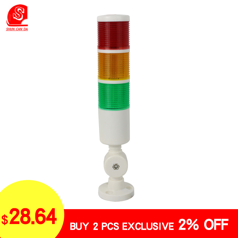 Voyant Led 9w tricolore Buzzer rouge phare clignotant alarme pour tour de garage Machine à coudre lumières industrielles 24v 220v
