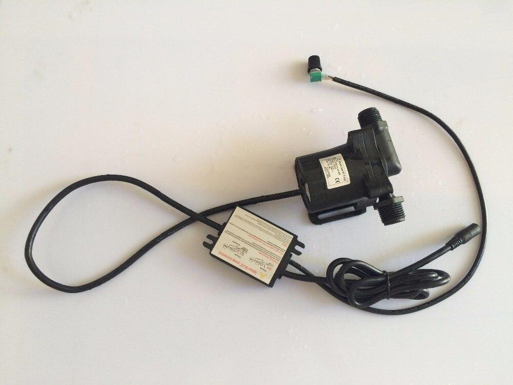 Free shipping 2pcs/ Lot 5-24Vdc Micro hot water circulation pump Speed Adjustable Soft Start High Temp Max Lift 15m Flow 1560LPH