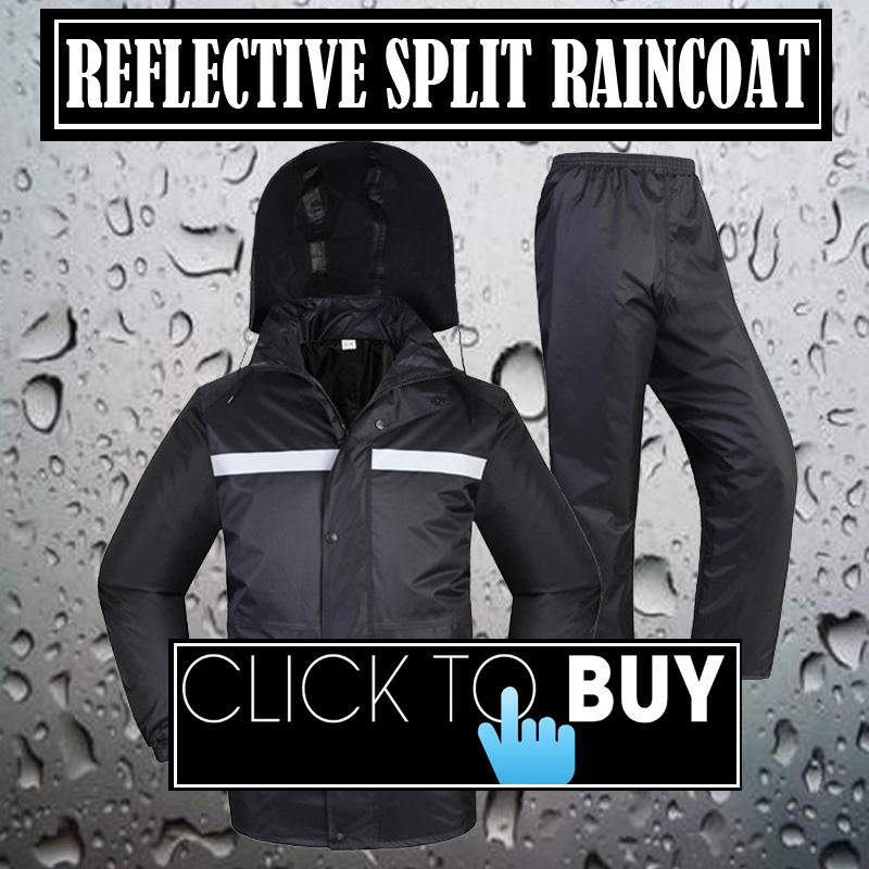 SPARDWEAR waterproof  breathable reflective men male jacket and pants sets polyester pongee  black split raincoat  Free shipping  reflective raincoat rain pants waterproof single raincoat men and women for riding working free shipping