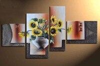 4PCS 5D DIY Diamond Painting Beauty Flower Embroidery Full Round 3d Diamond Cross Stitch Rhinestone Mosaic