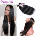 8A 360 Lace Frontal With Bundle Brazilian Straight Hair Lace Frontal Closure With Bundles Human Hair Lace Frontal With Baby Hair