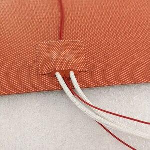 Image 4 - Stany zjednoczone materiał! Ender 3s elastyczne 235x235mm grzałka silikonowa 24V 220V 110V podgrzewane łóżko płyta do zabudowy dla Creality Ender 3 3D drukarki