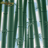 beibehang elegant bamboo wallpaper 3d papel de parede roll livingroom sofa background wallpaper green bamboo forest wall paper