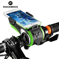 RockBros Safety MTB Road Bike Bicycle Bell IP54 Cycling Handlebar Alarm Horns Bicycle Phone Holder Parts