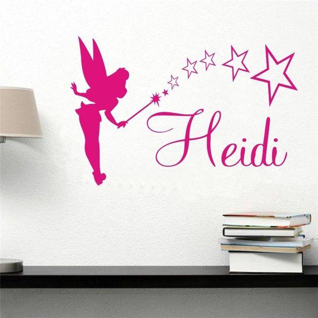 Lh063 fairy stars engels naam custom diy slaapkamer decoratie ...