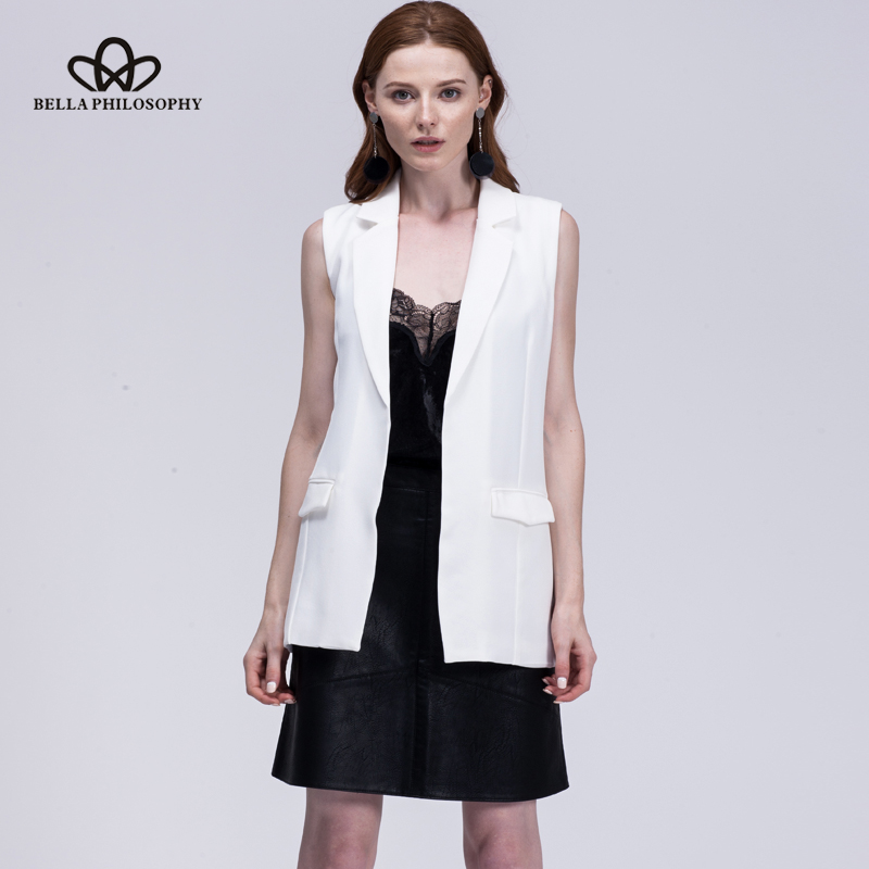 Bella Philosophie 2019 neue Mode Weste Frauen keine Taste schwarze - Damenbekleidung - Foto 4