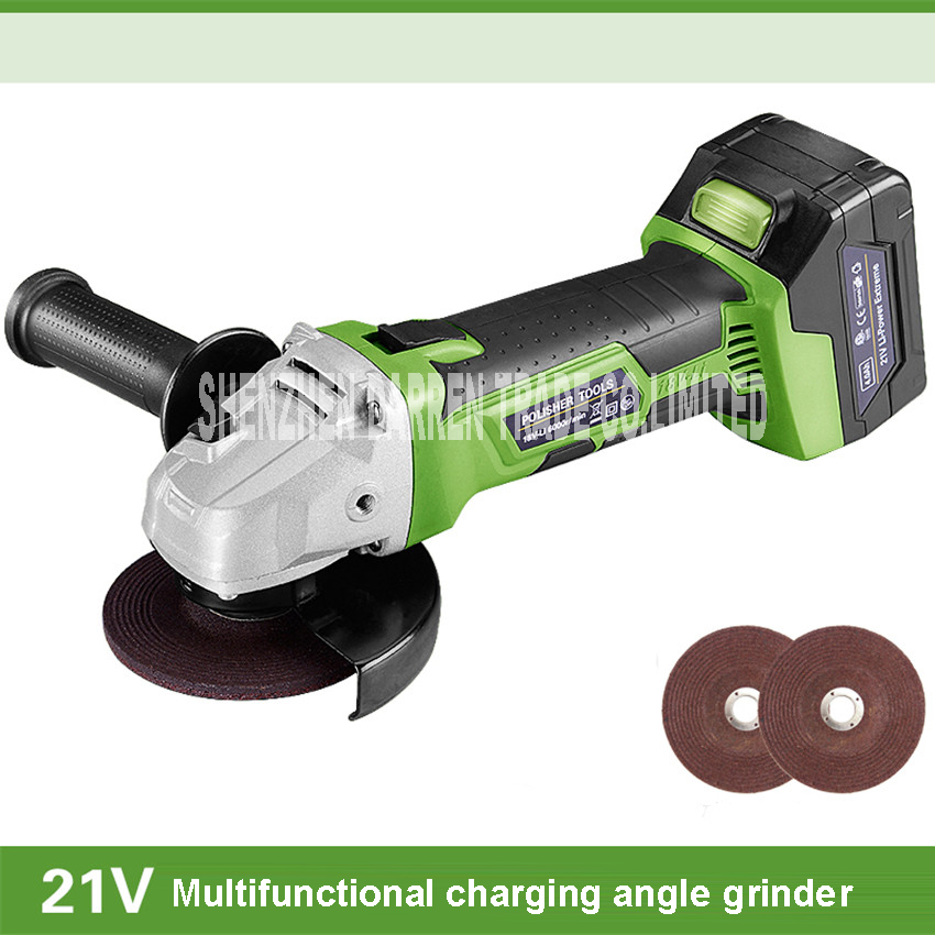 Charging angle grinder cordless dual action random orbital car polisher With battery charger 21v   6000rpm  100mm Millstone
