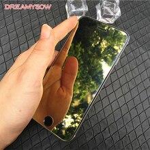 Красочная зеркальная защита экрана из закаленного стекла для iPhone 7 Plus 8 6 6S 5 5S SE 5C XS 11Pro полное покрытие 9H защитная пленка
