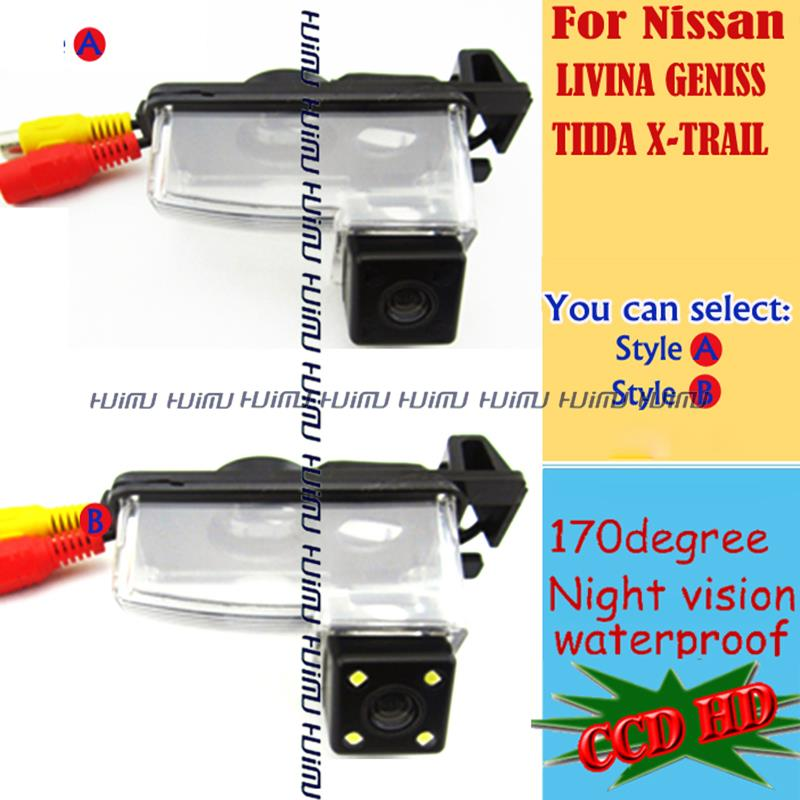 CCD HD Macchina Fotografica di Retrovisione per Nissan Tiida Skyline  Fairlany 350Z 370Z R35 GTR 250GT CUBE Livina Geniss backup fotocamera 5b32af11f85b