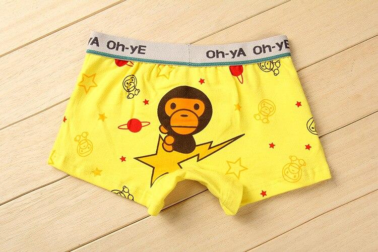 Hot selling Baby Boys Underwear cotton cartoon Yellow lightns
