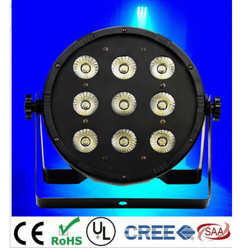 2pcs 9x12W LED Flat SlimPar Quad Light RGBW 4in1 LED DJ Wash Light Stage Uplighting No Noise Free Shipping стоимость
