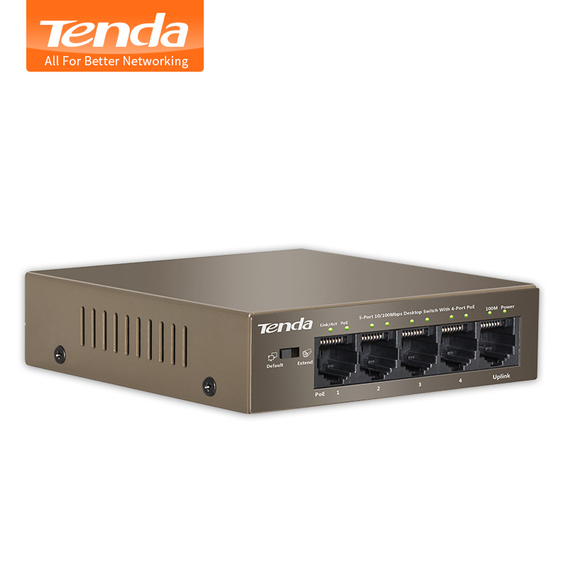 Prix pour Tenda TEF1105P-4-63W 5-Port 4-Way POE SOHO Commutateur de Réseau Ethernet De Bureau Réseau Commutateurs Réseau de Surveillance À Distance Puissance Suppl