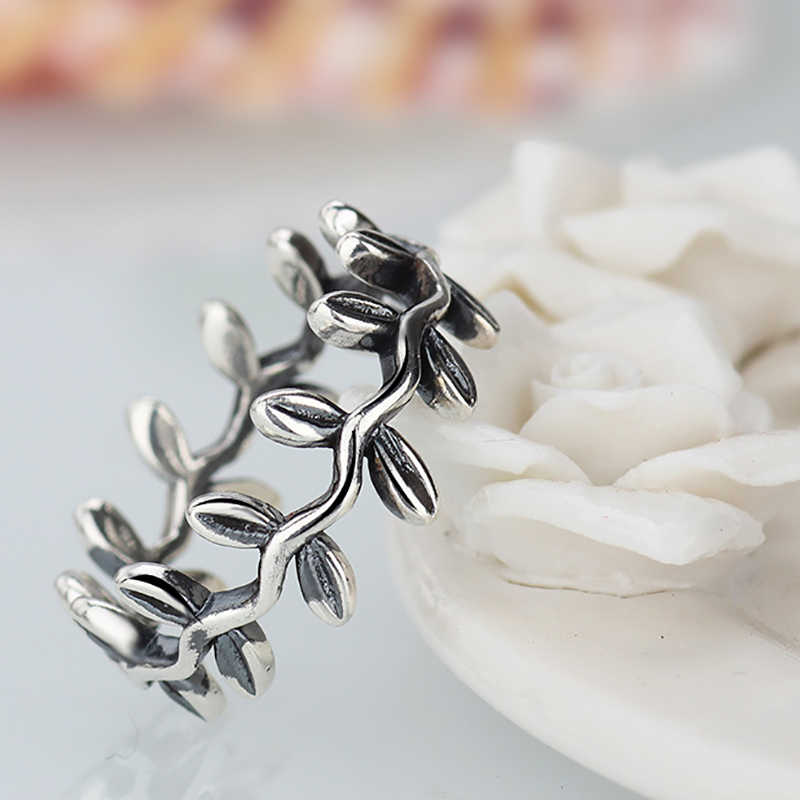 15e936c7e New Collection Authentic Laurel Wreath Laurel Leaves Pandora Ring Plated  Silver Weeding Rings for Woman Jewelry
