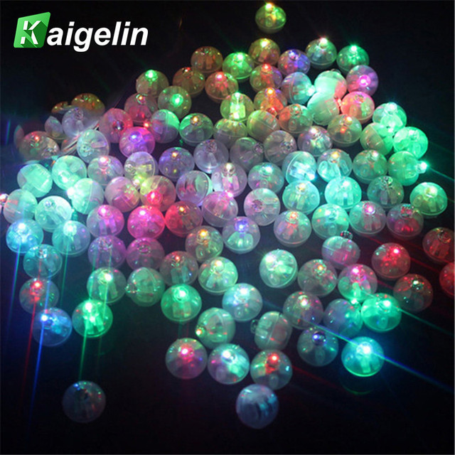 100 Pcs/lot LED Ball Lights For Glass Bottle Balloon Lights Multi-Color Flash Lamps New Year Valentie's Wedding Party Decoration