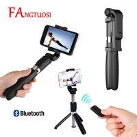 FANGTUOSI 3 в 1 беспроводной Bluetooth селфи палка мини штатив выдвижной монопод универсальный для iPhone XR X 7 6s Plus Pau De Palo
