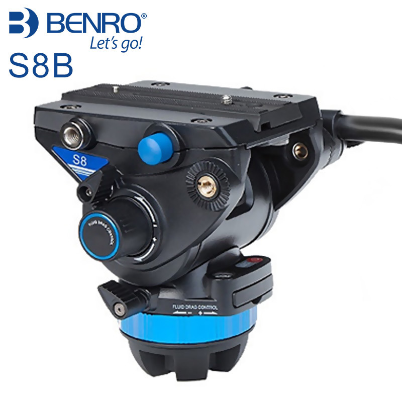 Benro S8 camera Video Heads Aluminum Hydraulic Head For Video Tripod For Bird Watching benro c38tds2 carbon fiber tripod kit bird watching monopod kit professional video camera slr tripod stable support for canon