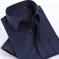 2017 Homens Da Moda Verão Camisa de Manga Curta Casual Masculino Sociais Camisas de Vestido Masculino Camisa Listrada camisa masculina de alta qualidade