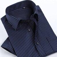 2016 Summer Fashion Men Shirt Short Sleeve Casual Social Male Dress Shirts Male Striped Shirt High