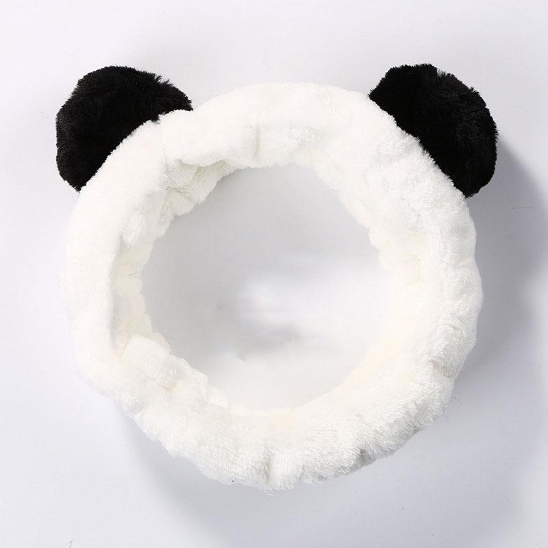 Cute Sheep Bear Panda Goat Animal Ear Flannel Cloth Headbands Turban Women Warm Hair Accessories Headwear