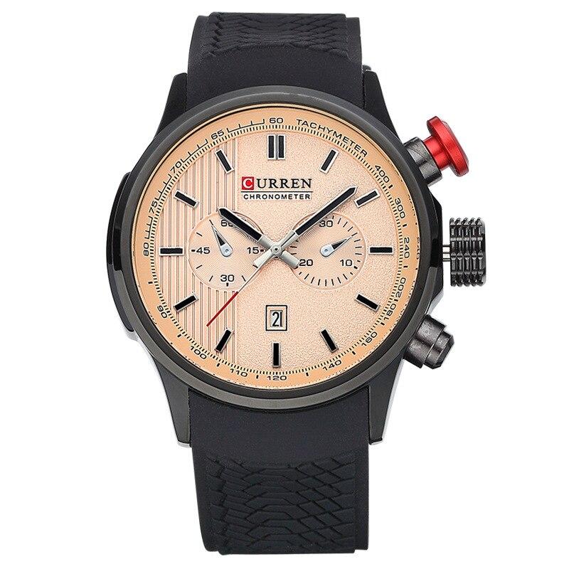 Curren Orijinal kişi saatı Lüks marka iş mens kvars qol saatları - Kişi saatları - Fotoqrafiya 5