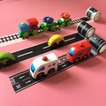 Trem de brinquedo do carro da liga do carro slot de papel cinto Estrada Ferroviária pode ser arbitrária diy projeto cena pista pista fita carry-on brinquedo