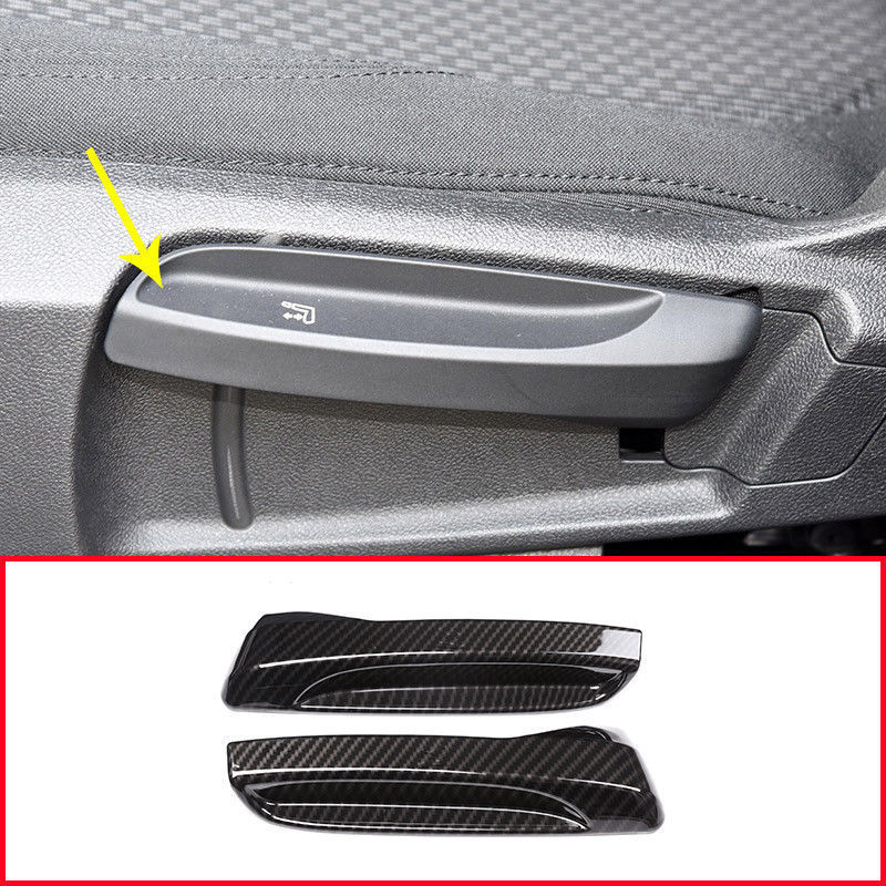 1set=2pcs Carbon Fiber Seat Adjustment Cover for <font><b>BMW</b></font> <font><b>118i</b></font> New 1 2 Series <font><b>F20</b></font> 218i 2016-17 Car decoration image